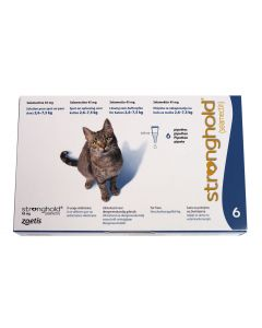 Stronghold 45 mg Chat 2,6 à 7,5 kg 6 pipettes