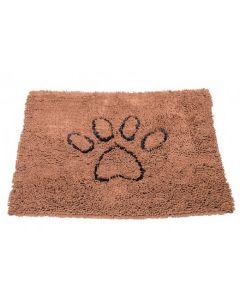 Tapis Dirty Dog en Microfibre Antidérapant pour Chien Marron 79 x 51 cm