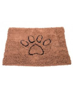 Tapis Dirty Dog en Microfibre Antidérapant pour Chien Marron 89 x 66 cm