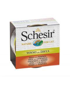 Schesir Thon avec Citrouille pour chat 14 x 70 g - La Compagnie des Animaux