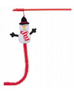 Trixie Canne à pêche Bonhomme de neige pour chat 31 cm- La Compagnie des Animaux