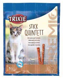 Trixie Premio Stick Quintett avec Agneau et Dinde pour Chat 5 x 5 g