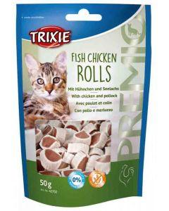 Trixie Premio Fish Chicken Rolls pour chat 50 g