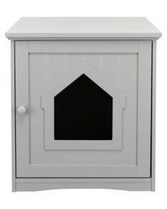 Trixie Cabane pour bac à litière chat gris 49 × 51 × 51 cm - La Compagnie des Animaux