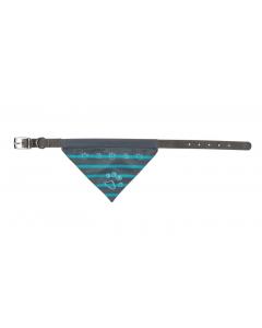 Trixie Collier en nylon avec bandana indigo - La Compagnie des Animaux