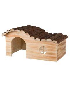Trixie Natural Living Maison Hanna en bois flammé Chinchillas et Cochons d'inde