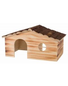 Trixie Natural Living Maison Ragna en bois flammé Cochons d'inde et Lapins