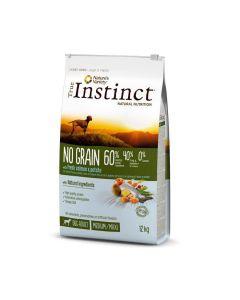 True Instinct No Grain Medium Maxi Adult Saumon 12 kg - La Compagnie des Animaux