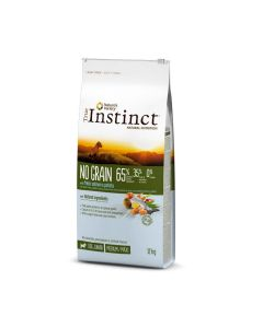 True Instinct No Grain Medium Maxi Junior Saumon 12 kg - La Compagnie des Animaux