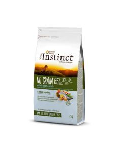 True Instinct No Grain Medium Maxi Junior Saumon 2 kg - La Compagnie des Animaux