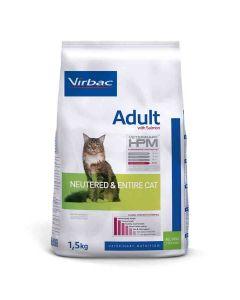 Virbac Veterinary HPM Adult Neutered & Entire Cat Saumon 1.5 kg- La Compagnie des Animaux