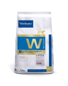 Virbac Veterinary HPM Weight Loss & Diabetes chat 1.5 kg- La Compagnie des Animaux