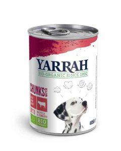 Yarrah Bio Bouchées boeuf et poulet en sauce aux orties et tomate pour chien 6 x 820 grs