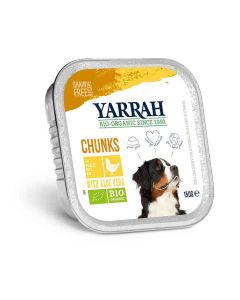 Yarrah Bio Bouchées de poulet à l'aloe vera pour chien 12 x 150 grs- La Compagnie des Animaux