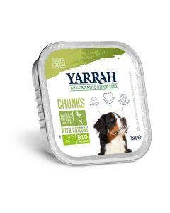 Yarrah Bio Bouchées de poulet et légumes à la chicorée pour chien 12 x 150 grs- La Compagnie des Animaux