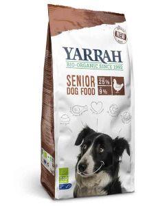 Yarrah Bio Croquettes Senior au poulet et poisson avec herbes pour chien 10 kg- La Compagnie des Animaux