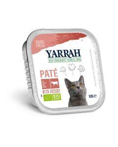 Yarrah Bio Pâté de boeuf à la chicorée pour chat 16 x 100 grs- La Compagnie des Animaux