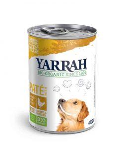 Yarrah Bio Pâté de poulet en sauce aux d'algues marines et spiruline pour chien 12 x 400 grs