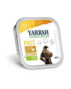 Yarrah Bio Pâté de poulet et aux algues marines pour chien 12 x 150 grs- La Compagnie des Animaux