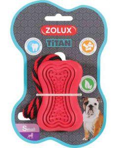 Zolux Jouet caoutchouc avec corde Titan S rouge