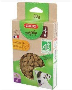 Zolux Friandises Woofies Bio au poulet 80 g- La Compagnie des Animaux
