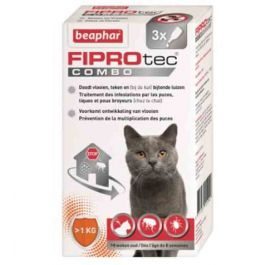 Beaphar Fiprotec Combo chats et furets pipettes x3