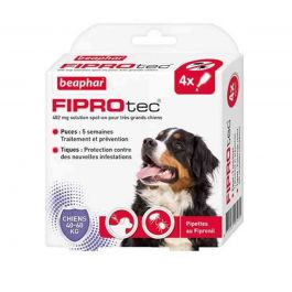 Beaphar Fiprotec Chien 40 - 60 kg 4 pipettes