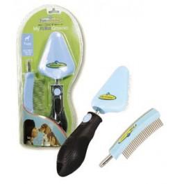 Kit toilettage Furminator peigne et brosse chiot - Dogteur