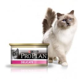 Purina Proplan Cat Delicate Dinde 18 boites de 85 grs + 6 offertes - Dogteur