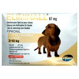 Eliminall Chien 2-10kg 6 pipettes (générique Frontline) - Dogteur