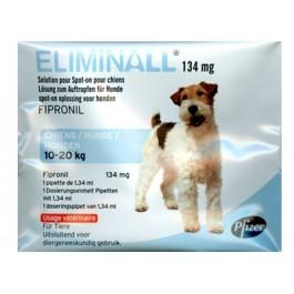 Eliminall Chien 10-20kg 6 pipettes (générique Frontline) - Dogteur