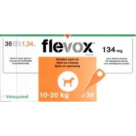 Flevox Chien 10-20kg 36 pipettes ( generique Frontline ) - Dogteur