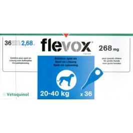 Flevox Chien 20-40kg 3 pipettes ( generique Frontline ) - Dogteur