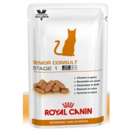 Royal Canin Vet Care Nutrition Cat Senior Consult Stage 1 12x100 grs - Dogteur