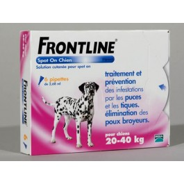 Frontline Spot on chien de 20-40 kg 6 pipettes - Dogteur