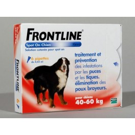 Frontline Spot on chien de 40-60 kg 6 pipettes - Dogteur