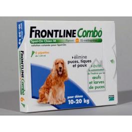 Frontline Combo Chien 10-20 kg 6 pipettes - Dogteur