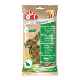 8in1 Minis Friandises Lapin et Herbes pour chien 100 g - Dogteur