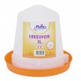 Plume & Compagnie Abreuvoir plastique 3 L - Dogteur