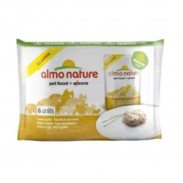 Almo Nature Chat Classic Value Pack Poulet et thon 6 x 55 grs - Dogteur