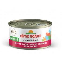 Almo Nature Chat Natural HFC Poulet avec foie 24 x 70 grs - Dogteur