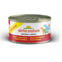 Almo Nature Chien Classic Boeuf et Jambon 24 x 95 grs - Dogteur