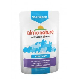 Almo nature Chat Sterilised Morue 30 x 70 grs - Dogteur