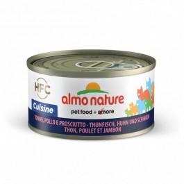 Almo Nature Chat Cuisine HFC Thon, Poulet et Jambon 24 x 70 g - Dogteur
