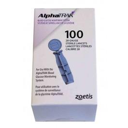 AlphaTRAK 100 lancettes stériles calibre 28 - Dogteur