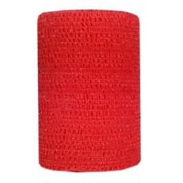 Bandes Cohésives 7,5 cm Rouge - Dogteur