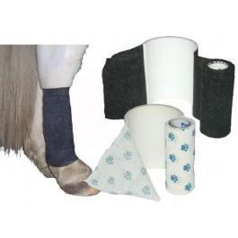 Bandes cohésives AFD Equin 10 cm Empreintes blanches - Dogteur