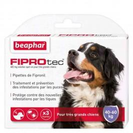 Beaphar Fiprotec très grand chien 40 - 60 kg 3 pipettes - Dogteur