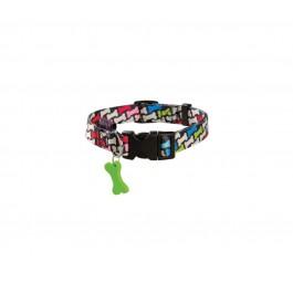 Collier Bobby Carnaval multicolore M 32/52 cm - Dogteur
