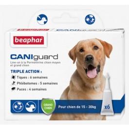 Beaphar Caniguard grand chien 15 - 30 kg 6 pipettes - Dogteur